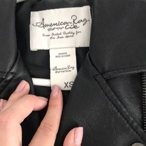 """Leather"" jacket. Size XS, worn 2-3 times"